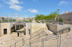 Mamilla shopping mall in Jerusalem - Israel Stock Photography