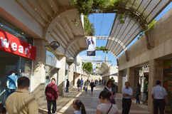 Mamilla shopping mall in Jerusalem - Israel Stock Images