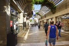 Mamillawandelgalerij in Jeruzalem, Israël Royalty-vrije Stock Foto's