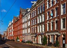 Mamixstraat在阿姆斯特丹 免版税库存照片