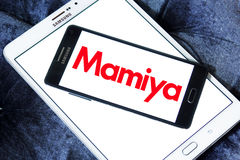 Mamiya logo. Logo of camera manufacturer mamiya on samsung mobile phone a5 Stock Photos