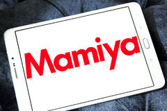 Mamiya logo. Logo of camera manufacturer mamiya on samsung tablet Stock Photo