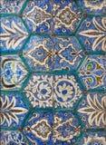 Mamluk era style glazed ceramic tiles decorated with floral ornamentations. Cairo, Egypt Stock Photography