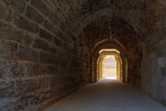 Mamluk era wysklepiająca dryluje tunelowy prowadzić al Bimaristan antyczny szpital, Kair, Egipt obraz royalty free