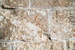 Mamluks期间的块墙壁的纹理在圣殿山的在耶路撒冷 库存照片
