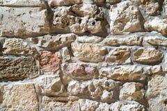 Mamluks期间的块墙壁的纹理在圣殿山的在耶路撒冷 免版税库存图片