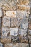 Mamluks期间的块墙壁的纹理在圣殿山的在耶路撒冷 免版税图库摄影