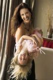 Mamma & bambino Fotografie Stock
