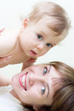 Mamma & figlio Immagini Stock