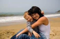 Mamma & zoon Stock Afbeelding