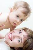 Mamma & zoon Stock Afbeeldingen