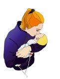Mamma con il bambino Immagini Stock Libere da Diritti