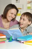 Mamma con suo figlio Fotografia Stock