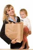 Mamma di funzionamento Immagini Stock