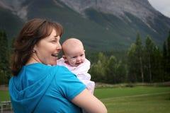 Mamma e bambino Fotografie Stock Libere da Diritti
