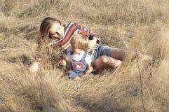 Mamma e bambino sorridenti Immagine Stock