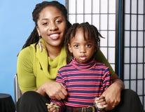Mamma e figlio sveglio Fotografie Stock