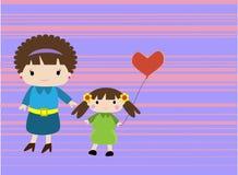 Mamma e la sua ragazza illustrazione di stock