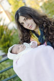 Mamma e neonato Fotografia Stock