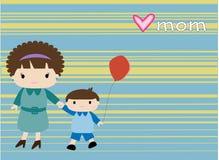 Mamma ed il suo ragazzo royalty illustrazione gratis