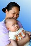 Mamma en baby 1 royalty-vrije stock fotografie