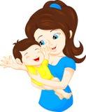 Mamma en baby Stock Foto