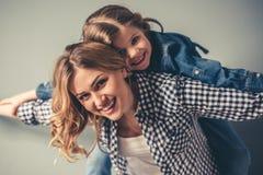 Mamma en dochter Stock Foto's