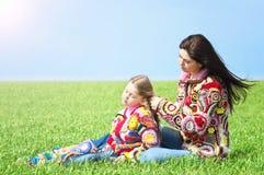 Mamma en haar dochter royalty-vrije stock foto's