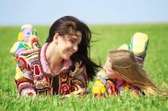 Mamma en haar dochter Stock Afbeelding