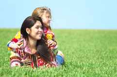 Mamma en haar dochter Royalty-vrije Stock Foto