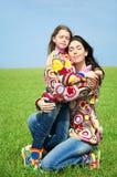 Mamma en haar dochter royalty-vrije stock afbeeldingen