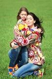 Mamma en haar dochter stock fotografie