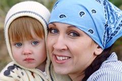 Mamma en Kind Stock Foto's