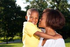 Mamma en zoon royalty-vrije stock fotografie
