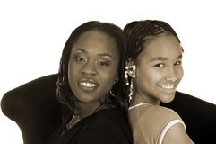 Mamma & figlia Immagini Stock Libere da Diritti