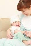 Mamma giapponese ed il suo bambino Immagine Stock Libera da Diritti