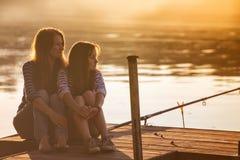 Mamma med dottern Royaltyfria Bilder