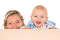 mamma met baby royalty-vrije stock afbeelding