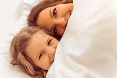 Mamma met dochter Stock Foto