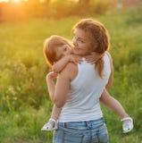Mamma met dochter Royalty-vrije Stock Afbeeldingen