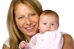 Mamma met pasgeboren haar royalty-vrije stock afbeeldingen