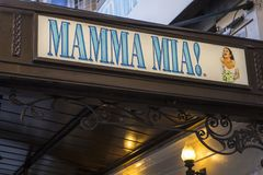 Mamma Mia at the Novello Theatre in London royalty free stock images