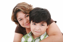 Mamma mit ihrem Sohn Lizenzfreies Stockfoto
