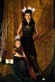 Mamma- och dotterindier Arkivbild