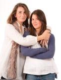Mamma och tonårs- dotter Arkivfoto