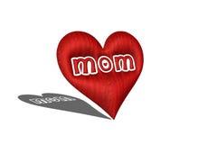 mamma rossa del cuore 3D immagine stock libera da diritti