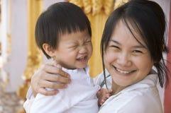 Mamma und Baby Stockfoto