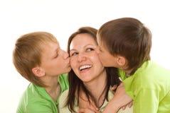 Mamma und Kinder Stockbild