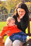 Mamma und kleines Mädchen Lizenzfreies Stockbild