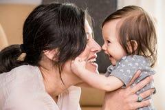 Mamma und Schätzchen Stockfoto